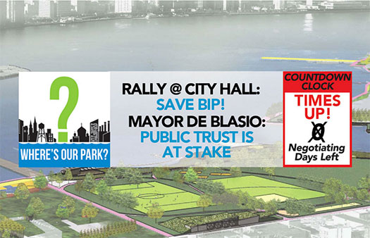 Rally at City Hall to Save Bushwick Inlet Park Tomorrow (Mon, 8/8, 11AM)
