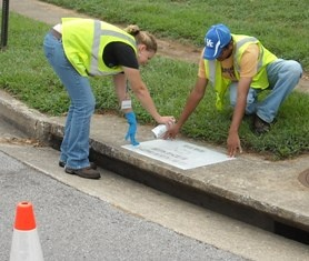 Storm Drain Stenciling!