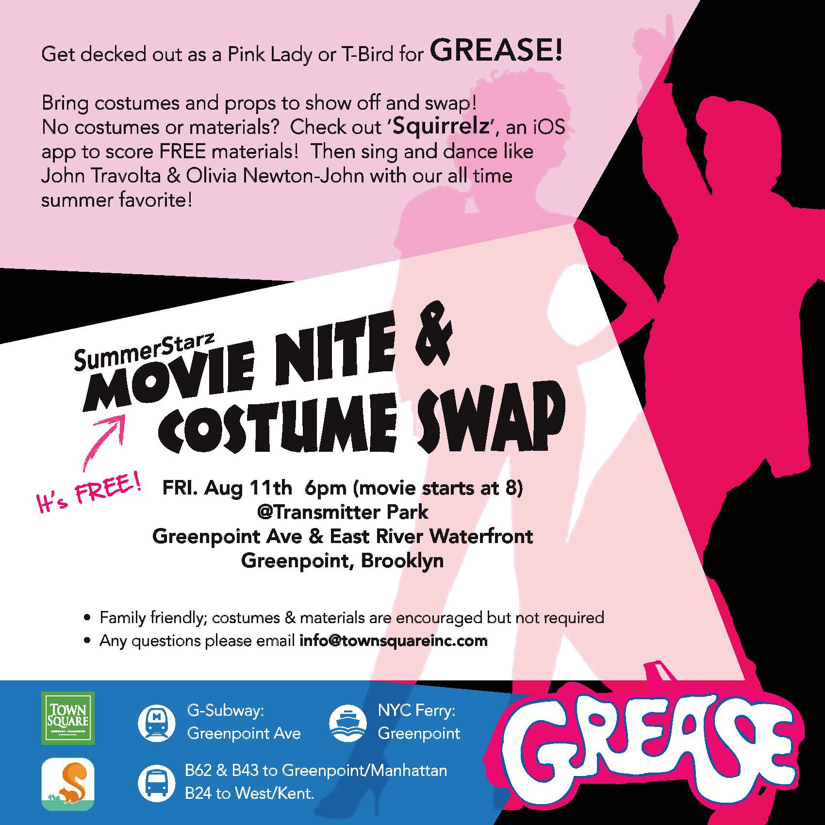 17e8aa990eb3 We've partnered up with Bunny Yan and The Squirrelz to do a Cosplay Swap at  SummerStarz's Grease movie night. Bring costumes and props to show off and  swap!