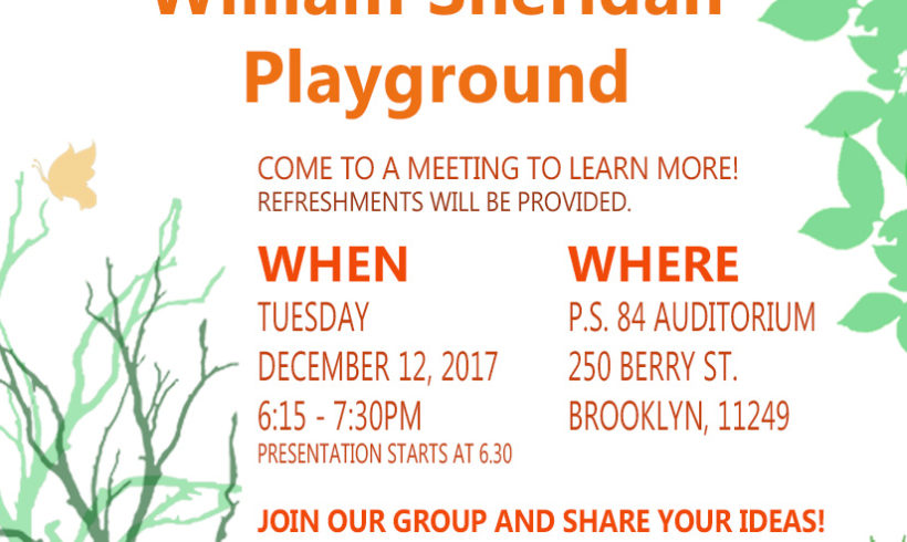 Community Meeting: Improving William Sheridan Playground