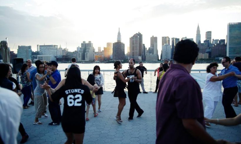 Wednesday on the Waterfront Salsa Dancing